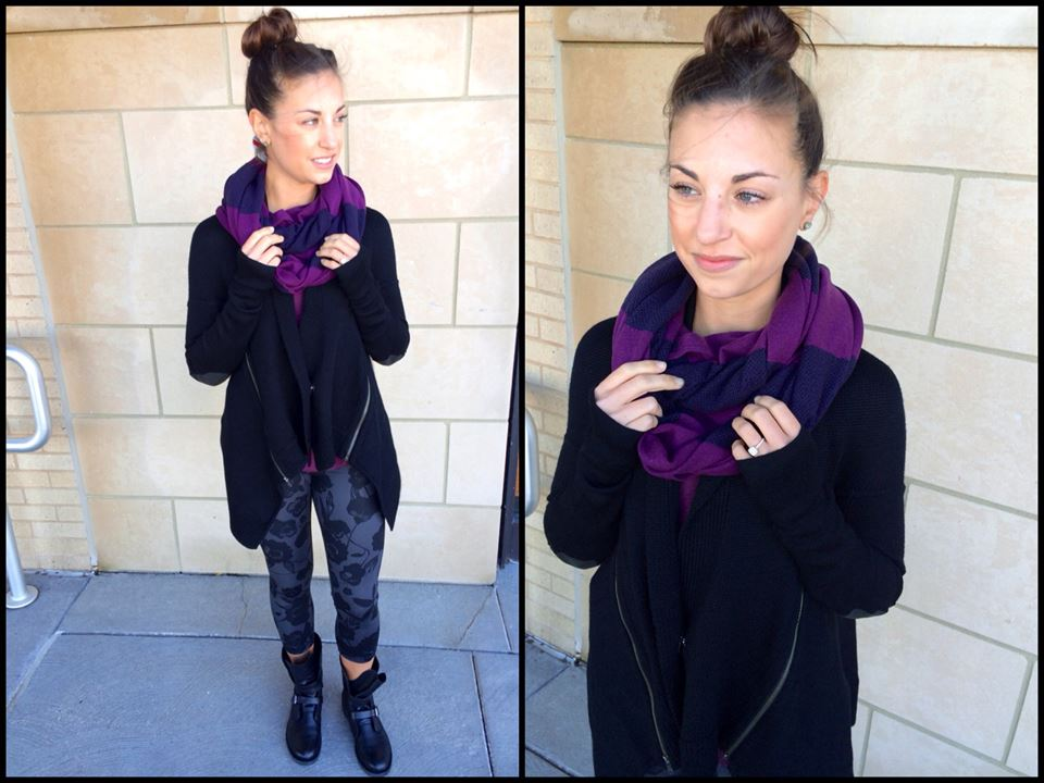 lululemon bundle up scarf berry yum yum