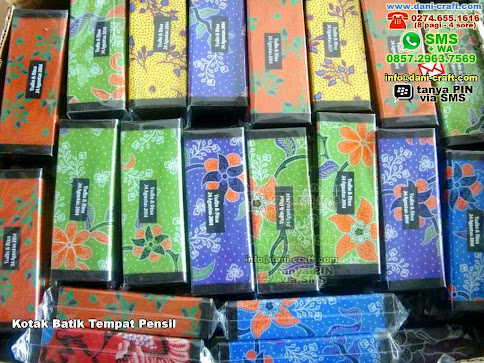 Kotak Batik Tempat Pensil Kain Batik Pontianak