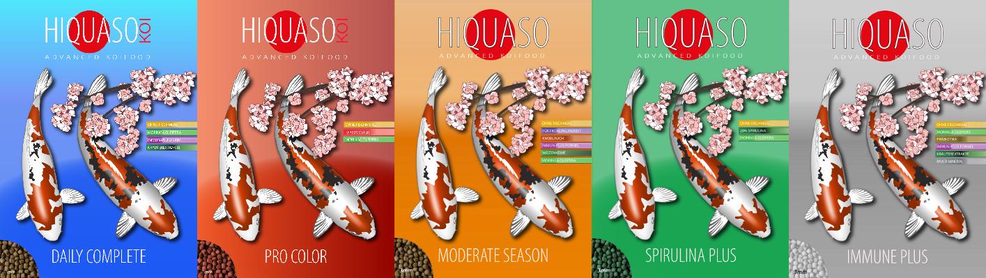 Hiquaso Koifuttersorten, Futter für Koi