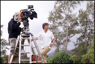 Alexander Payne en el set de Los Descendientes, en Hawai