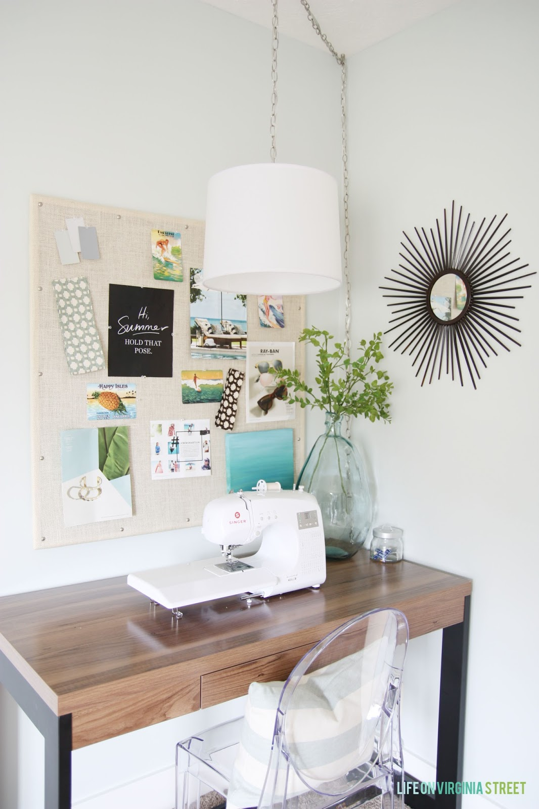 10 beautiful room makeovers life on virginia street just a girl and her blog - Small space sewing area style ...