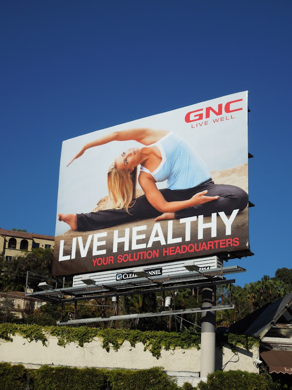 Healthy stretching GNC billboard