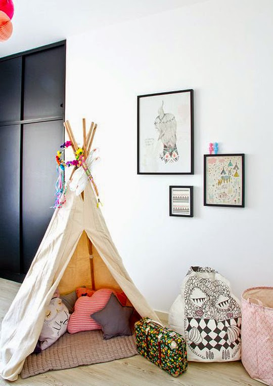 child's room teepee