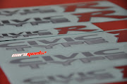 Honda Civic EK . CIVIC TYPE R . Side Door Sticker. CIVIC TYPE R