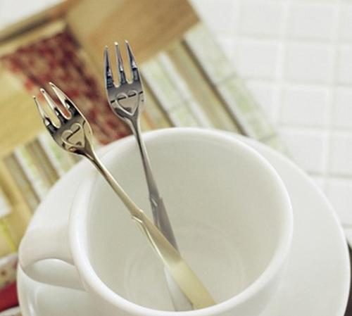 Dain Love Heart Stainless Steel Tea Fork Silver 1p