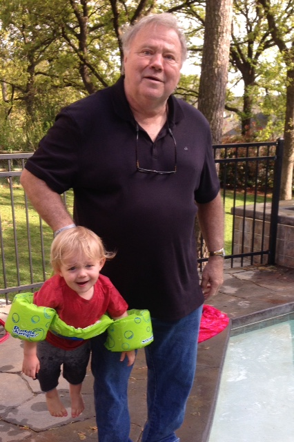 Pool time with Pawpaw