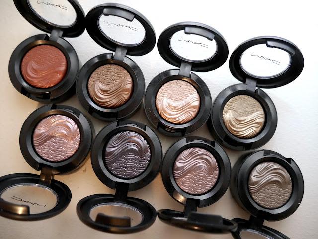 MAC extra dimensions eyeshadows
