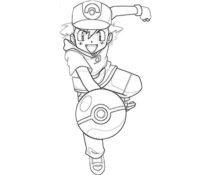 Pokémon BlackWhite Ash Ketchum Pokemon Ball Coloring Pages title=