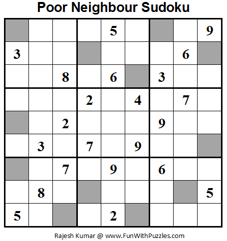 Poor Neighbours Sudoku (Daily Sudoku League #63)