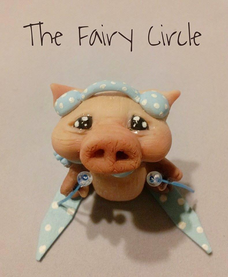 pig maiale ooak miniature miniatur piggy