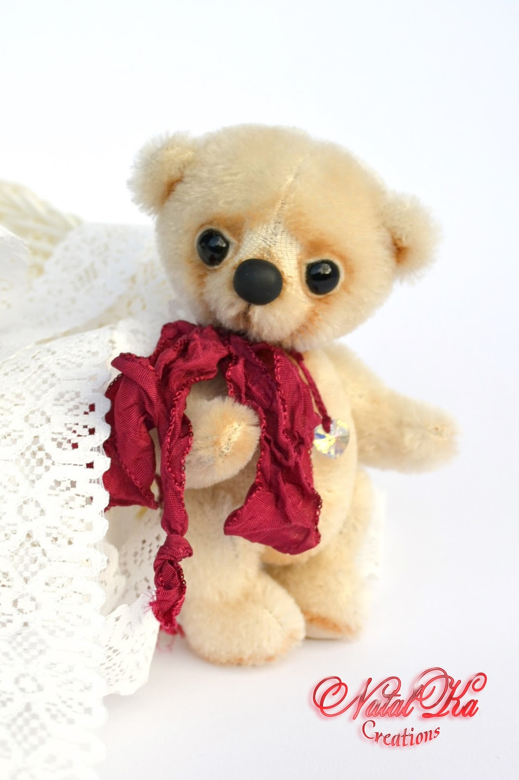 Artist teddy bear, artist bear, teddy bear, ooak, artist bear jointed, handmade by NatalKa Creations. Künstlerbär, Künstlerteddy, Teddybär, Teddy, Unikat, handgemacht von NatalKa Creations