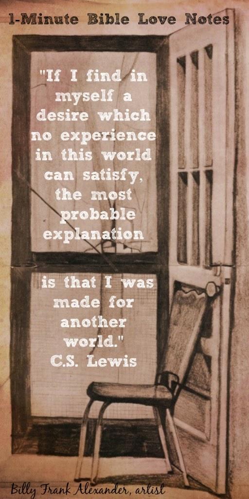 C.S. Lewis, Blaise Pascal, Metaphysical longings in man
