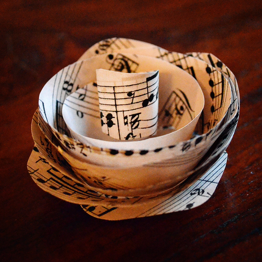 Simply Albany Sheet Music Paper Flowers