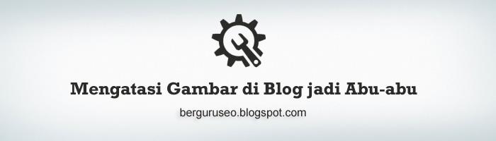 Cara Mengatasi Gambar di Blog Berubah Warna Abu-abu