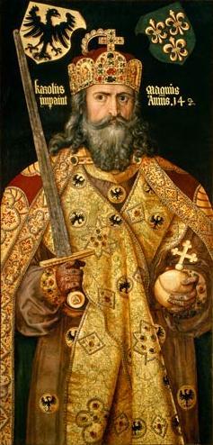 Retrato de Carlomagno, por Alberto Durero