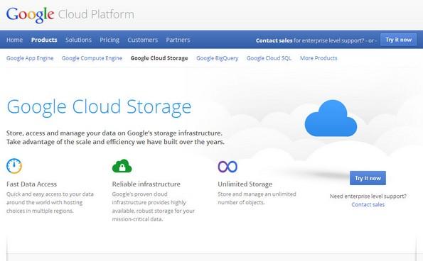 Google cloud storage service