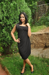 Telugu Actress Swathi Deekshith Latest Picture Gallery in Black Short Dress 0027