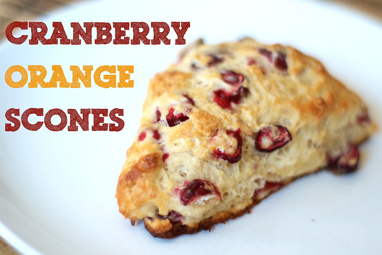 The Ginger Cook: Fresh Cranberry Orange Scones
