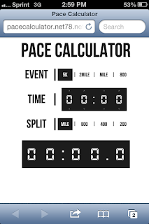 The original PaceCalculator