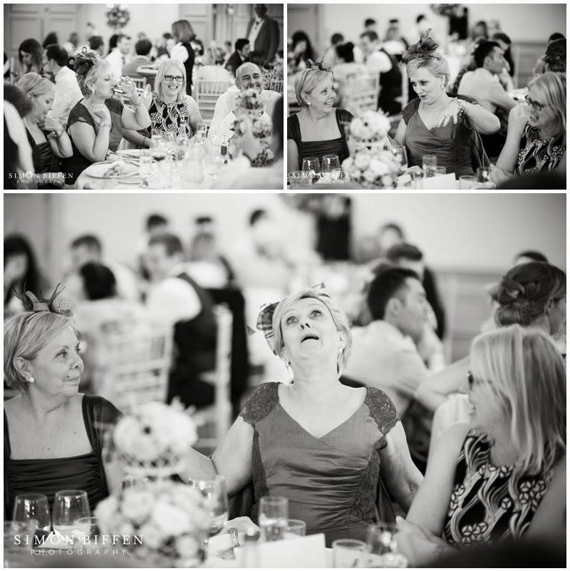 Wedding guest tells a joke