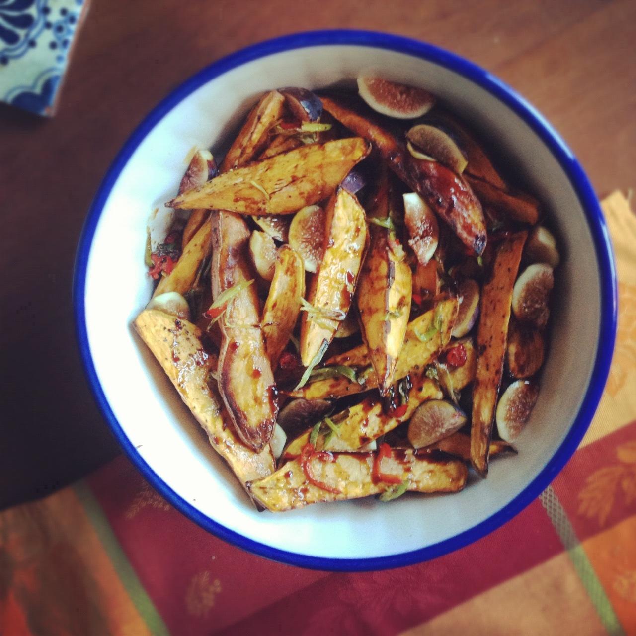 my madeleine: Roasted Sweet Potatoes & Fresh Figs
