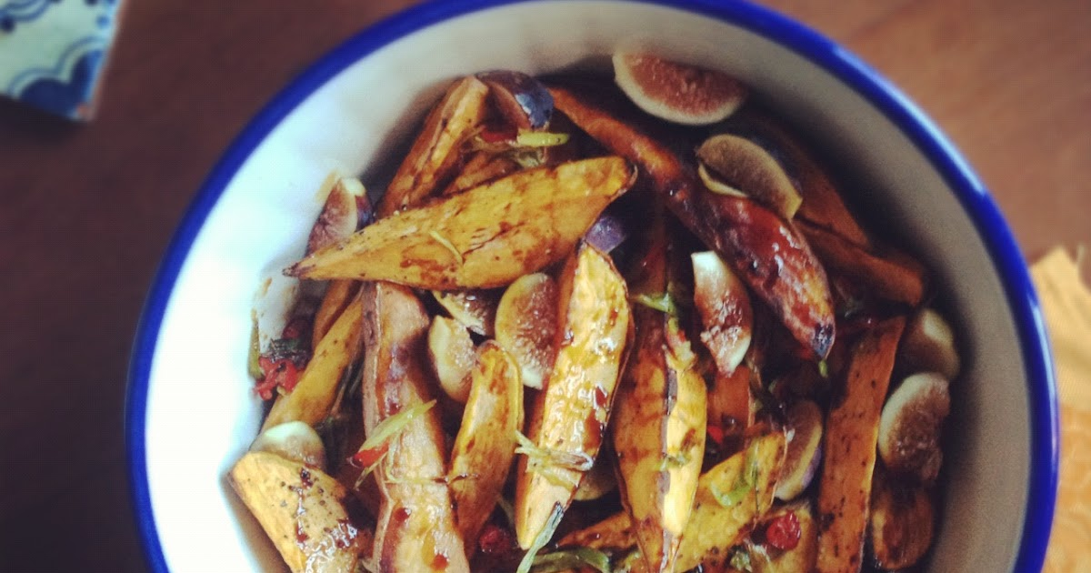 my madeleine: Roasted Sweet Potatoes & Fresh Figs