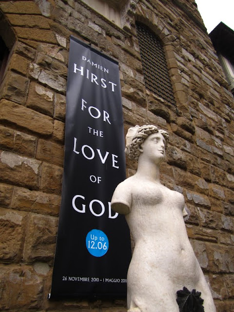 Damien Hirst For the Love of God show in Florence, Italy.
