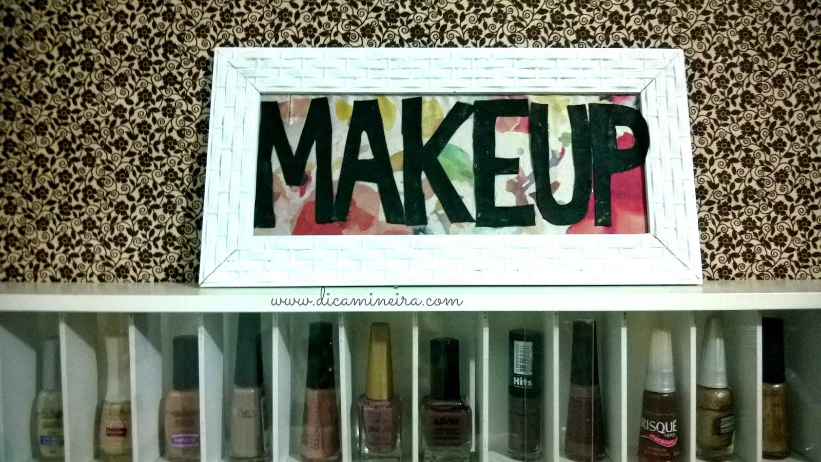 DIY | Quadro Makeup Decorativo