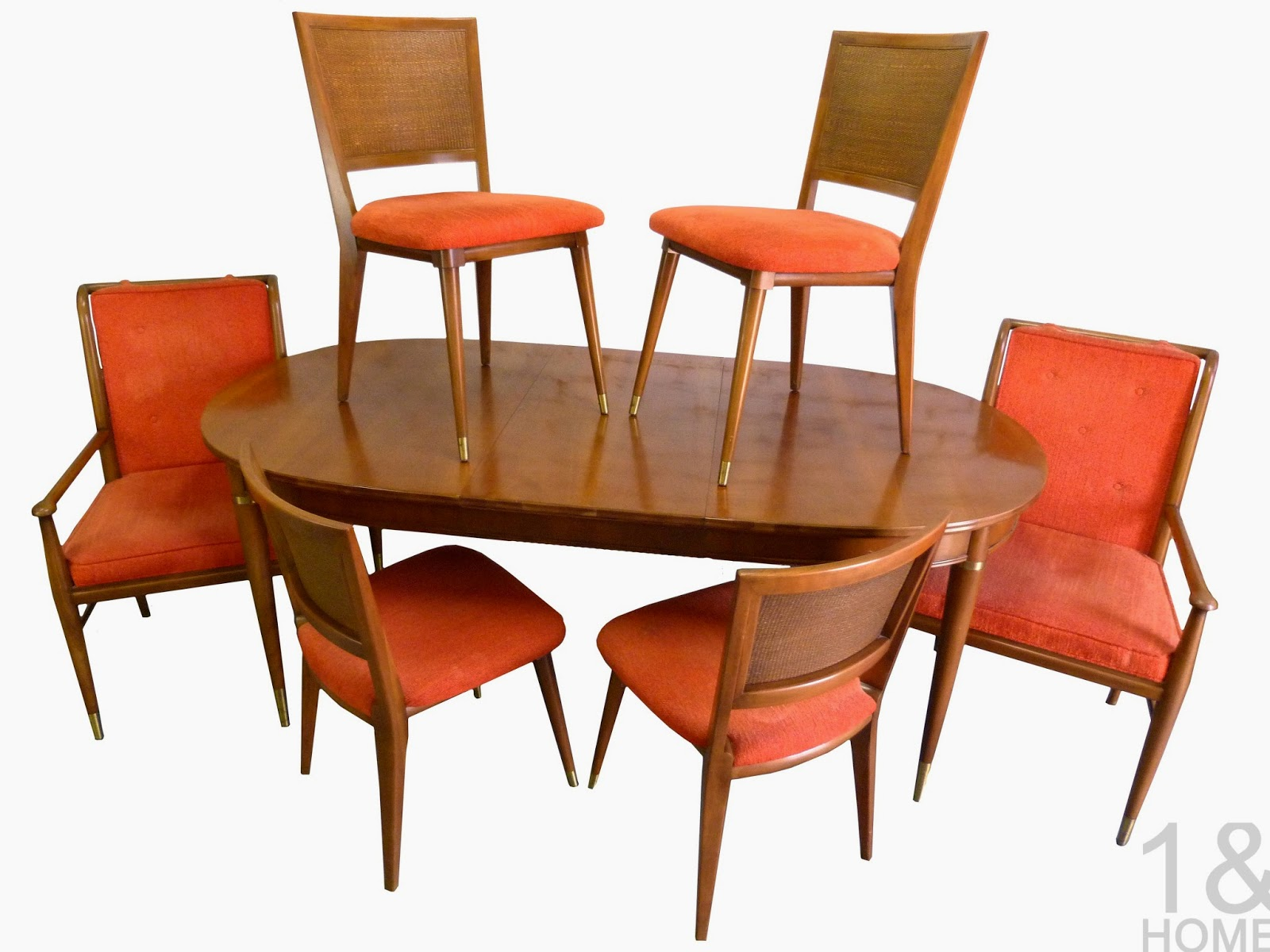 John Widdicomb J. Stuart Clingman Mid Century Dining Room Table Chairs