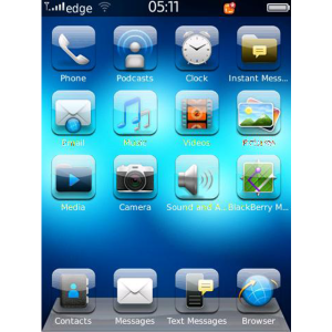 Theme iGlass OS7 for Blackberry