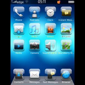 Theme iGlass OS7 for Blackberry