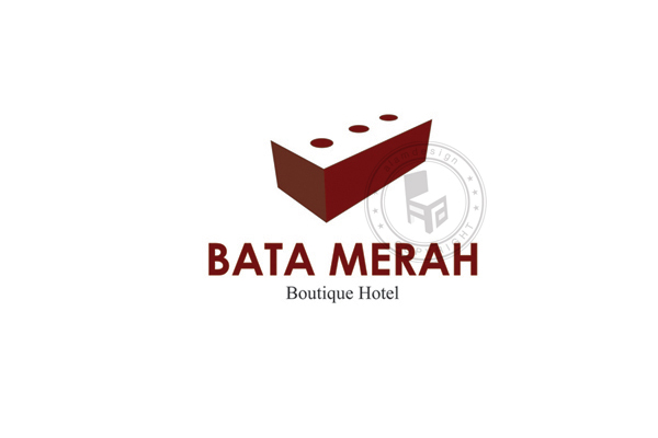 Bata merah boutique hotel logo design alamportfolio for Boutique hotel logo