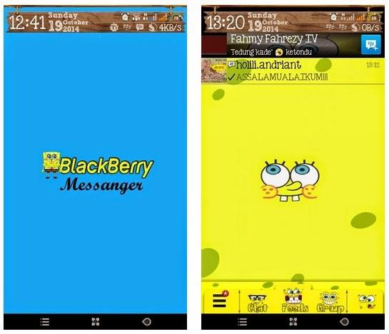 BBM Mod tema gambar beground foto spongebob kartun theme apk