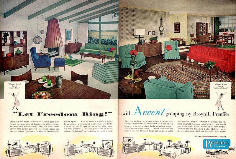 Broyhill Premier Mid Century Furniture Brochure