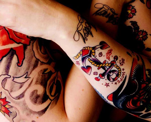 Tatuagem de Ancora Hope