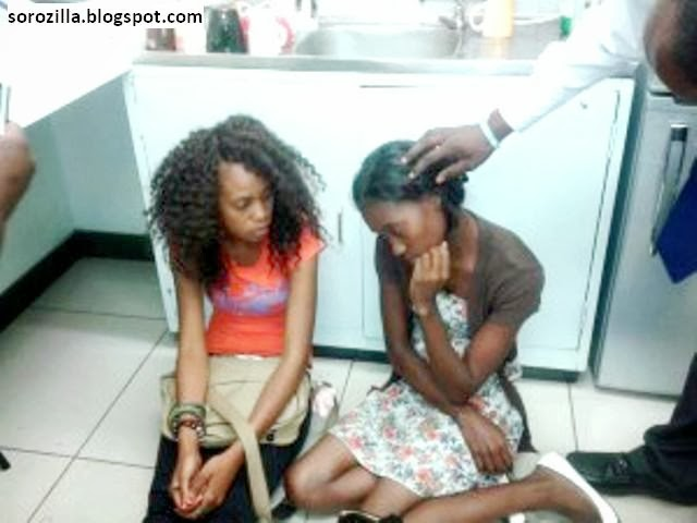 girls caught stealing