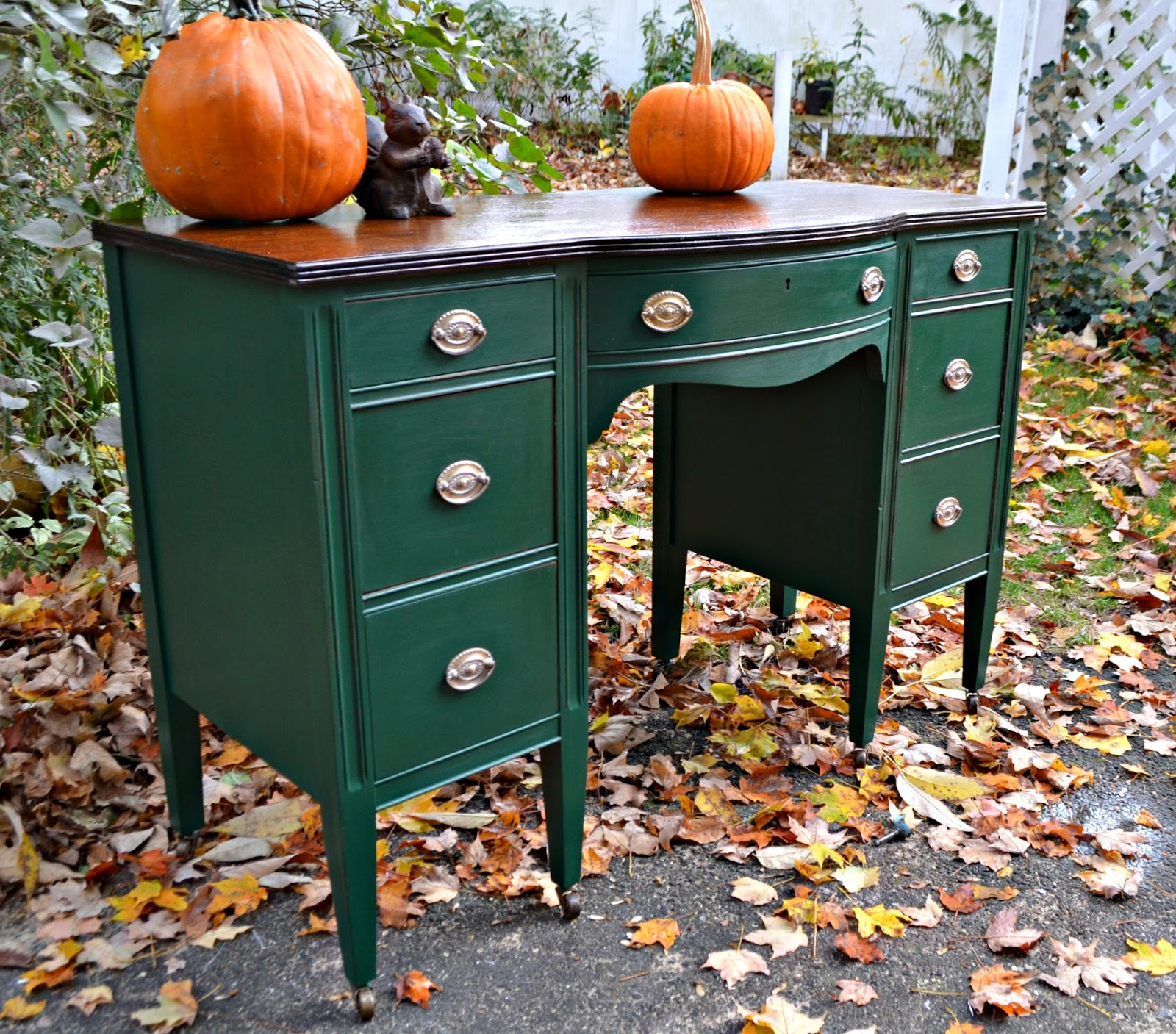 Heir and Space: A Handsome Antique Mahogany Desk