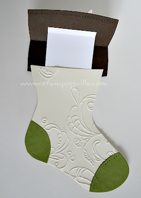 Gift Card Holder Stampin' Up! Die Cut Christmas Stocking