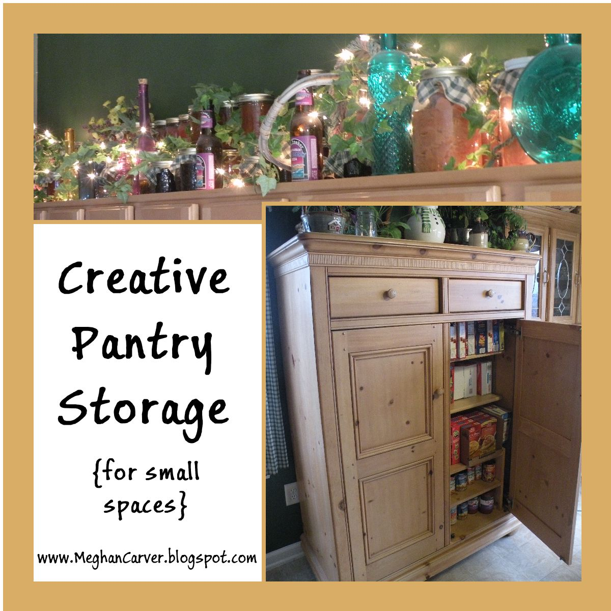 Kitchen Organization Ideas For Small Spaces: Meghan Carver: Creative Pantry Storage