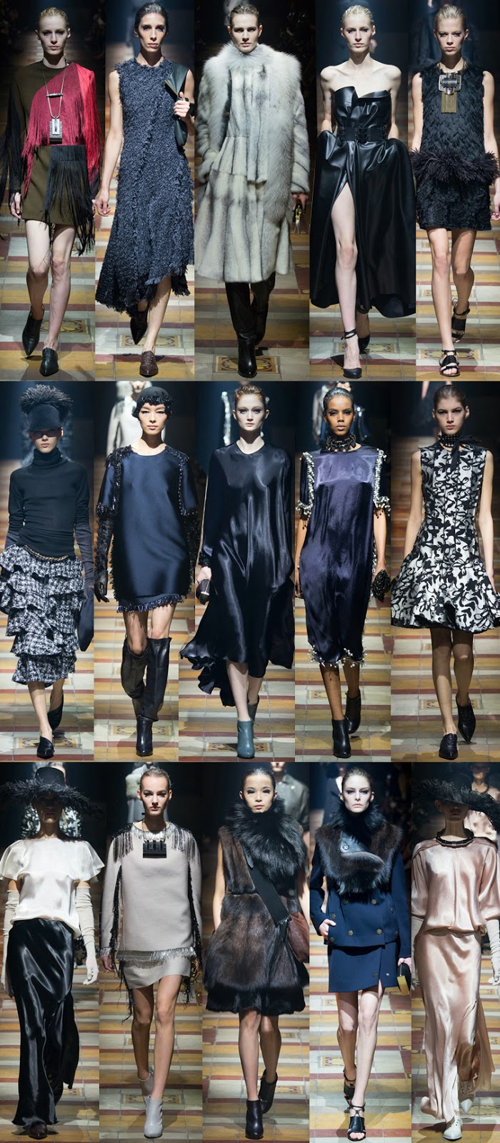 Lanvin by Alber Elbaz fall winter 2014 runway collection, PFW, Paris fashion week, FW14, AW14