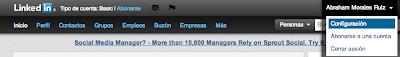 pasos para editar url de linkedin