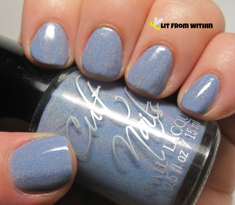 Cult Nails Intriguing - an absolutely gorgeous bluish-periwinkle holo.