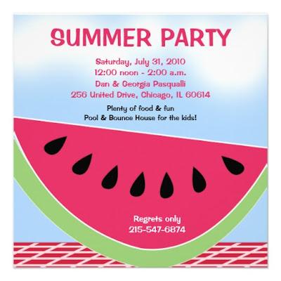 invito per summer party