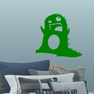 funny monster wall decals