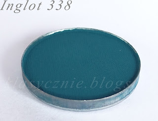 blue matte shadow, Inglot 338