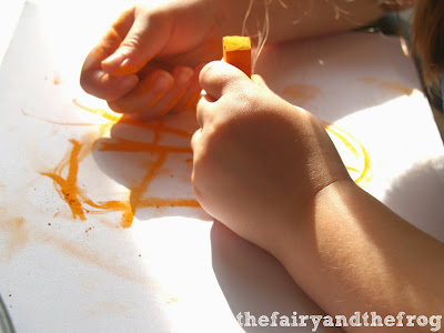 using pastels with children