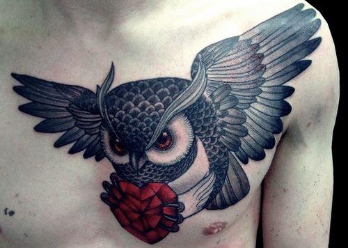 coruja como tatuagem pelo simples fato de considera-la bonita