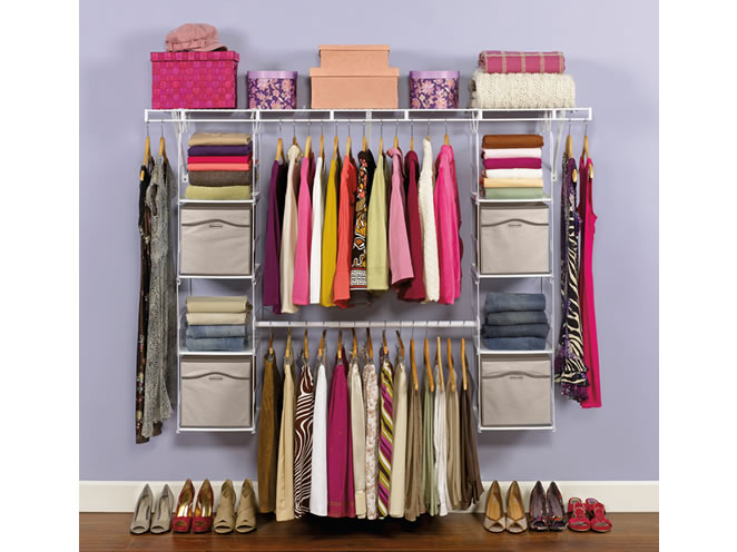 Rubbermaid Closet Helper Max Add On Organizer   You Donu0027t Need Mr. Big To  Get Your Dream Closet!
