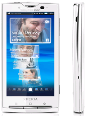 Sony Ericsson x10 White Specifications