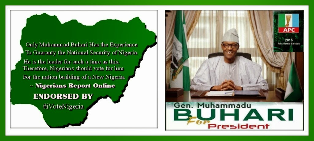 VOTE BUHARI FOR PRESIDENT 2015